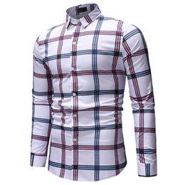 Ropa casual de oficina hombres online-2018Feitong New Top Men Invierno y otoño Camisa casual Moda de manga larga Elegante Oficina de negocios Blusa Men1801-ML18
