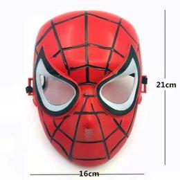 Deutschland Kinder Halloween-Party-Masken-Maskerade-Cartoon-Karte Channel-Werkzeug Spider-Man-Maske Spielzeug 21 * 16cm 2 Farben Einzel oppo Beutelverpackung Versorgung