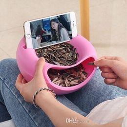 Brand New Phone Phone Supporto da tavolo Supporto da tavolo Creativo Ciotola Forma perfetta per i semi Frutta a guscio e frutti secchi scatola di immagazzinaggio da