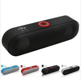 altavoces de coche de audio de cristal Rebajas Nuevo NBY-18 Mini Altavoz Bluetooth Sistema de sonido de altavoz inalámbrico portátil Sistema de sonido estéreo 3D Surround Bluetooth, TF AUX USB
