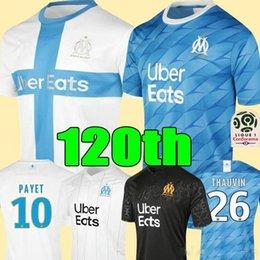 ko Rabatt Marseille 120th Anniversary Einfluss Jersey maillot om Fußball-Jersey-2020 olympique de marseille 19 20 maillot de foot