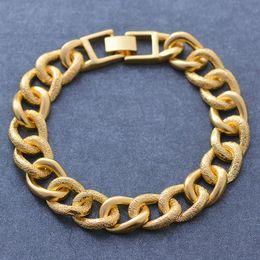 oro etioco Sconti Bracciale mezzo del fronte delle donne degli uomini di lusso Wando dell'oro di colore del rame dei braccialetti per i monili a catena mano delle donne etiope / arabo
