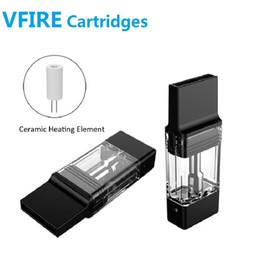 2019 cigarro de cigarro Autêntica ALD VFIRE capacidade de 0,9 ml cartucho Cigarette Atomizer tanque com bobina de cerâmica caber ALD surpreender Vfire kit vfire-II