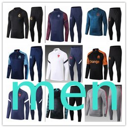 2020 tracksuit francia 2020 2021 psg men tracksuit football training paris Real Madrid ajax olympique de marseille France Tottenham  Chelsea Portugal Netherlands Liverpool fc Barcelona tracksuit francia baratos