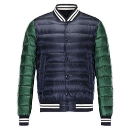 down jacket blue Coupons - Fashion Winter Down Jackets Men Multi Color Brand Designer Outwear Classic Duck Down Luxury Hip Hop Male Jacket Outdoor Coat for Sale