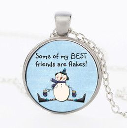забавные подарки для друзей Скидка 2109 новые рождественские подарки стекло кулон ожерелье забавный снеговик шаблон свитер Серебряное ожерелье рождественские подарки для друзей
