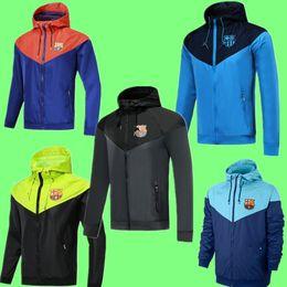 2019 черный цвет 2019 2020 Барселона куртка с капюшоном Ветровка Survetement 19 20 человек Юнайтед куртки Барселона soccerTraining куртки спортивной одежды пальто