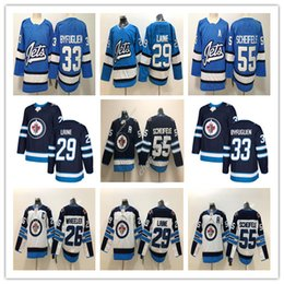 марка трикотажа Скидка 2019 Winnipeg Jets Jersey 29 Патрик Лэйн 26 Блейк Уилер 33 Дастин Бьюфуглиен 55 Марк Шайфеле Хоккейные майки