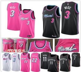 Mejores camisetas online-La mejor calidad de 100% cosida Dwyane barato 3 Dwayne Wade Jersey Jimmy Butler, 22 Tyler 14 Herro 7 Durant Giannis 34 Antetokounmpo jerseys NCAA