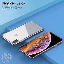militärische iphone rückseiten Rabatt Großhandel Fusion Case für iPhone XS MAX Hülle Clear PC Back und weiche TPU-Rahmen Hybrid Military Drop getestet für iPhone XS / XR