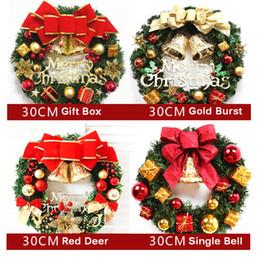 30cm Red Jingle Bell Door Hanger Christmas Wall Window Decoration