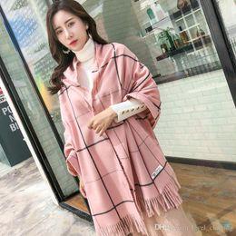 2019 ткань для пейсли 2018 осень и зима новый плед имитация кашемировый шарф женская японская девушка сладкий шарф простой теплый шарф шаль