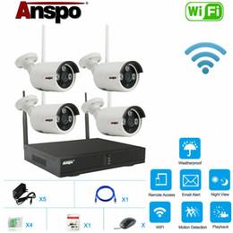 Systèmes de sécurité à domicile sans fil en plein air en Ligne-NOUVEAU 4CH sans fil 1080P NVR extérieur maison WIFI caméra système de sécurité CCTV vidéo