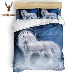 Familydecor Indian Unicorn Quilt Cover Biancheria da letto Fore Set di biancheria da letto Bedroom Cotton Luxury Flower Girls Quilt Lino Mens da