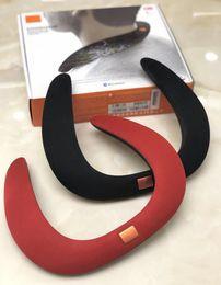 Nova ENGRENAGEM SOUND Mini Portátil Alto-falantes Bluetooth Sem Fio Inteligente Hands-free Pescoço Alto Falante Subwoofer Suporte TF e USB FM Rádio de
