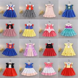 Ropa de bebé dhl online-Niños ropa de diseñador niñas princesa vestido niños Mario Cosplay disfraces vestidos de verano de dibujos animados de Halloween navidad bebé ropa DHL C6917