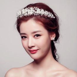 2019 capelli alti Accessorio per capelli da sposa con accessori per capelli da sposa in cristallo pieno di perle alto 5,5 cm sconti capelli alti