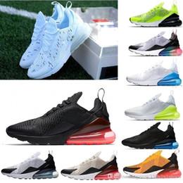 Mens soft online-Nike Air Max 270 Campione francese Running Shoes 2 stelle Black White Cushion Triple Mens Fashion air fashionTrainers Eur 36-45