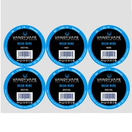Autentico rda vape online-Authentic Vandyvape Mesh Wire Nuovo elemento riscaldante Scroll KA1 NI80 316L Materiale 5ft per RDA RDTA Serbatoi 100% originale Vandy Vape