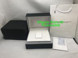 Montre homme bois noir en Ligne-Montres de luxe de haute qualité Black Original Box femme boîtes boîte de montre-bracelet avec certificats en bois boîte pour IVVC
