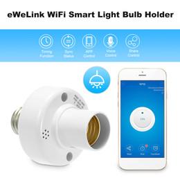 supporto della lampada senza fili Sconti Portalampada eWeLink WiFi Smart Light Portalampada wireless E27 per Amazon Alexa Google Home / Nest per Smart Home Light
