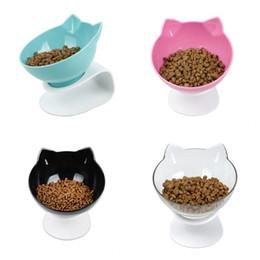 Piatti di riso online-Ciotola di riso per cibo per gatti Proteggi il vaso per cani della colonna vertebrale Pet Pet Rack Suit Suit Antiscivolo Anti caduta Verde Nero 24 4 C1