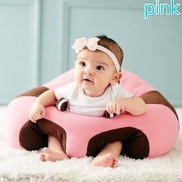 Bebê sentar brinquedos on-line-Kid Baby Sente-se Cadeira Macia Almofada Sofá Plush Pillow Toy Suporte Assento Bean Bag