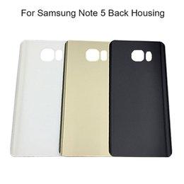 наклейки samsung Скидка Новая задняя дверь батареи для Samsung Galaxy Note5 Примечание 5 N920 N920f задняя крышка корпуса стекло + стикер Бесплатная доставка