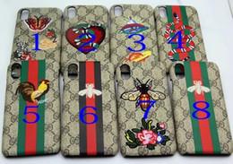 peau de serpent iphone Promotion Etui Smartphone avec broderie de serpents pour iPhone X 8 7 6 Plus
