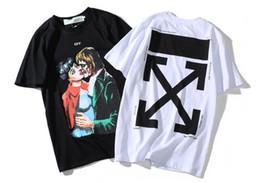 Beso camisetas online-2019 hombres diseñadores camiseta luxurys de camiseta beso Zombie vampiro impreso flecha logo tendencia camiseta tops de alta calidad