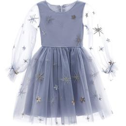 Vêtements de décoration de paillettes en Ligne-Vêtements pour enfants Designer filles Sequin et broderie décoration robe de princesse Tutu Jupe lanterne design manches
