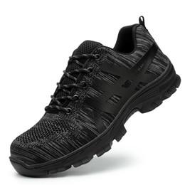 Canada Mode Grande Taille En Acier Bout De Travail Bottes Chaussures De Sécurité Respirant Été Anti-crevaison Outillage Bottes Basses Protéger Chaussures XX-374 Offre