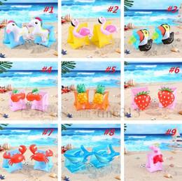 2019 lifesaving armband Baby Krabben Ananas Kirsche Flamingo PVC Aufblasbare Float Arm Kreis Kinder Schwimmen Ärmel Schwimmen Ring Pool Schwimmring Boje 4685