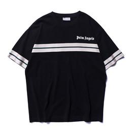 2019 nueva palm angel angel nuevo tejido ancho de banda algodón suelto cuello redondo hombres y mujeres camiseta grande de manga corta desde fabricantes