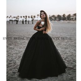 Gothic Black Ball Gown Prom Dress 2019 New Spaghetti Cinghie Corsetto Lungo Tulle Puffy Masquerade Formale Party Gown Custom Made da