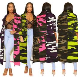 mulheres trincheiras mulheres Desconto mulheres jaqueta jeans casacos trench coat outerwear outono inverno mulheres longa capa encabeça casacos de moda camouflag mulheres s klw2622 vestuário