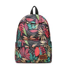 c02e6cfe630c 2019 FashionBrand Women Backpacks For Teenage Girls Floral Printed School  Bags Travel Leisure Laptop Backpack Female Canvas Backpacks