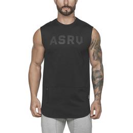 shorts pyrex vermelhos Desconto 2019 primavera verão dos homens colete de fitness ASRU letras imprimir camiseta sem mangas para homens esportes tanque Tops tamanho M-3XL