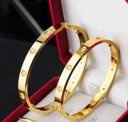 Quelques accessoires en Ligne-Titanium Steel Love Bracelet argent rose bracelet en or Bracelets Femmes Hommes Vis Tournevis Bracelet Couple Bijoux Accessoires NOUVEAU