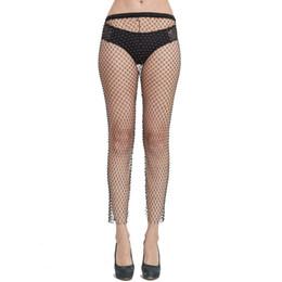 Сексуальные ажурные платья онлайн-Diamond Panty See Through Mesh Вечернее платье Полое боди Sexy Fishnet Club Ночные платья Блестящие стразы Fishnet White Color