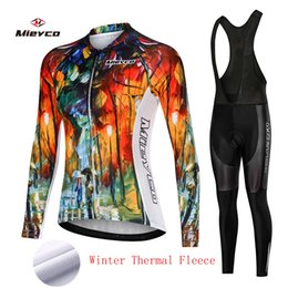 2019 conjuntos de jersey de ciclismo anti-bacterianos Inverno fleece térmica Ciclismo Jersey bicicleta Calças conjunto mulheres Ropa Ciclismo 3D ciclismo desgaste Maillot Mountian bicicleta