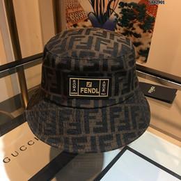 Senhoras chapéus formais on-line-Chapéu de grife nova dama carta padrão de moda guarda-sol chapéu de pescador estilo clássico simples chapéus formais fedora