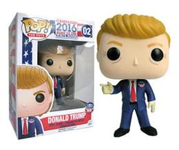 América Presidente Donald Trump Funko Pop Figura de acción Modelo Juguetes En caja Decoración Regalo Celebridad Figura Funko Pop desde fabricantes