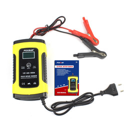 caricabatteria 12v 6a Sconti Caricabatteria per auto da 110 V a 220 V a 12 V 6 A LCD Smart Fast per auto Auto Moto Piombo Piena carica automatica Batterie