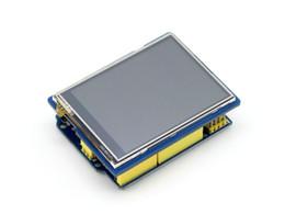 2019 exibição de escudo Waveshare 2.8 polegadas TFT Touch Shield LCD tela sensível ao toque Resistiva 320 * 240 Display para Arduino UNO Leonardo UNO PLUS NUCLEO XNUCLEO exibição de escudo barato