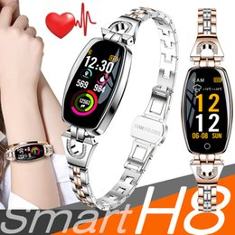 Mejor android smartwatch online-H8 Mujeres Pulsera Inteligente Pulsera de Fitness smartwatch Monitor de Ritmo Cardíaco Presión Arterial Oxígeno Arterial Banda Inteligente Mejor Regalo para Dama