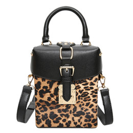 personalized handbags Promo Codes - Personalized Box Handbags Mini Cube Design Crossbody Bags For Women Messenger Bags Leopard