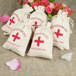 50 stücke Bachelorette Partydekorationen Hangover Kits Taschen 10 * 14 cm Baumwolle Hochzeit Gefälligkeiten und Geschenken Box Event Party Supplies von Fabrikanten
