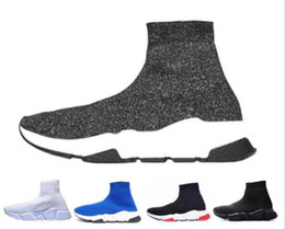 filles coréennes lacer des chaussures décontractées Promotion Balenciaga Sock shoes Luxury Brand Chaussettes Baskets Chaussettes Speed Trainer Chaussures de sport Sneakers Race Runners pour hommes, chaussures de sport