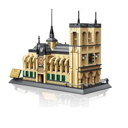 construir torre eiffel Rebajas Notre Dame de Paris bloques de construcción Torre Eiffel puente de Londres Arco de Triunfo Ladrillos juguetes figuras de acción rompecabezas bebé Bloques 15 estilos C6481